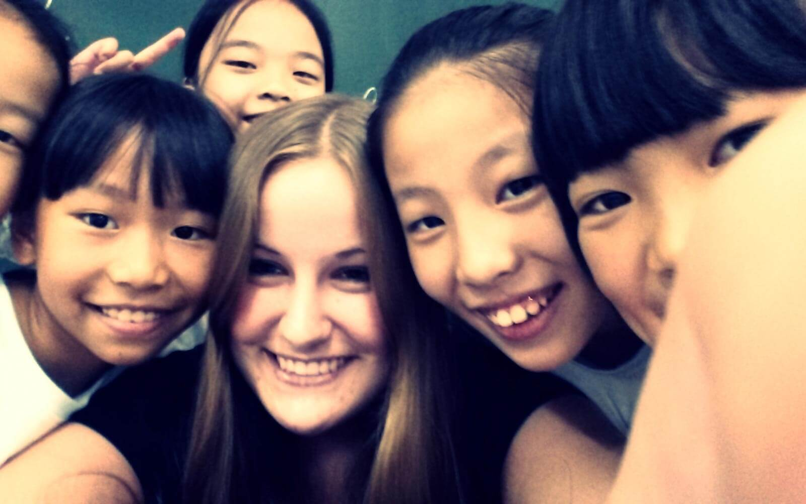 Teach and Travel China Kinder und Christin