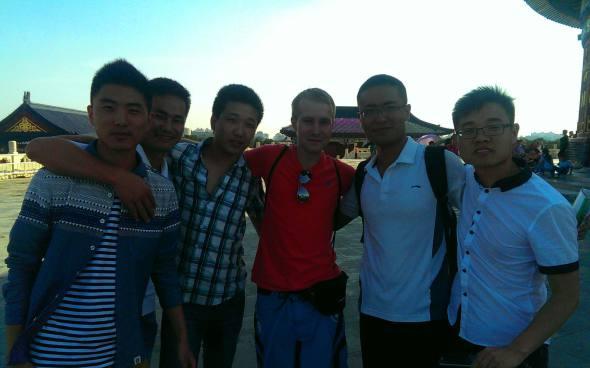 Erinnerungsfoto mit chinesischen Studenten