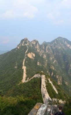Chinesische Mauer Teil unseres Wanderweges