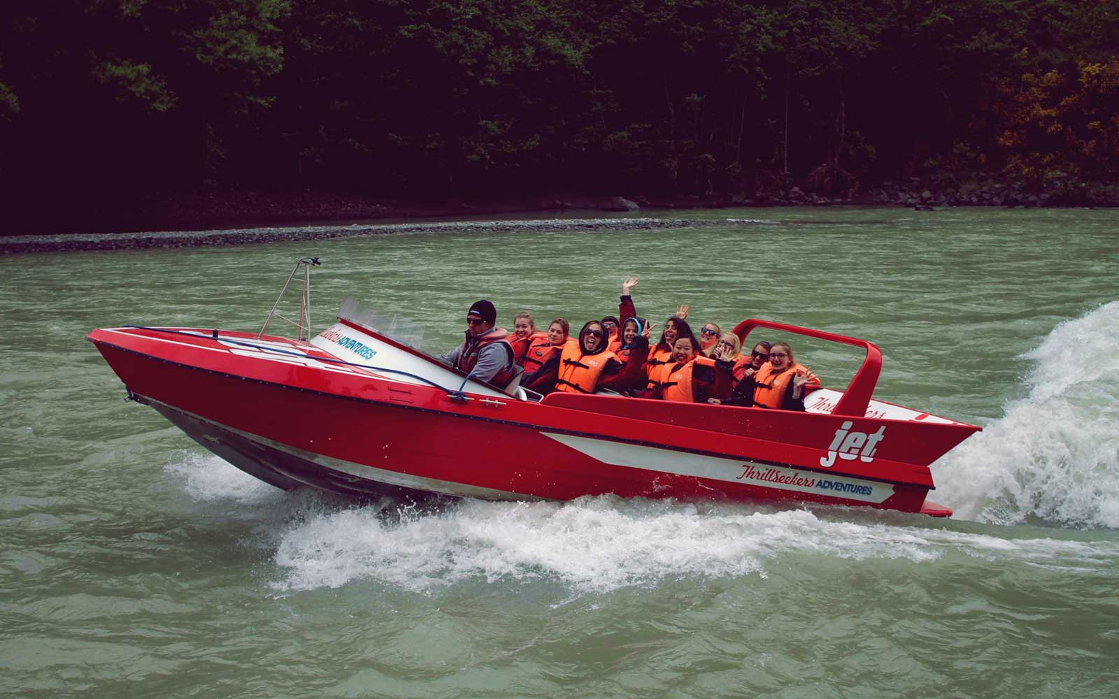 Farina in Neuseeland: Jetboating in Hanmer Springs