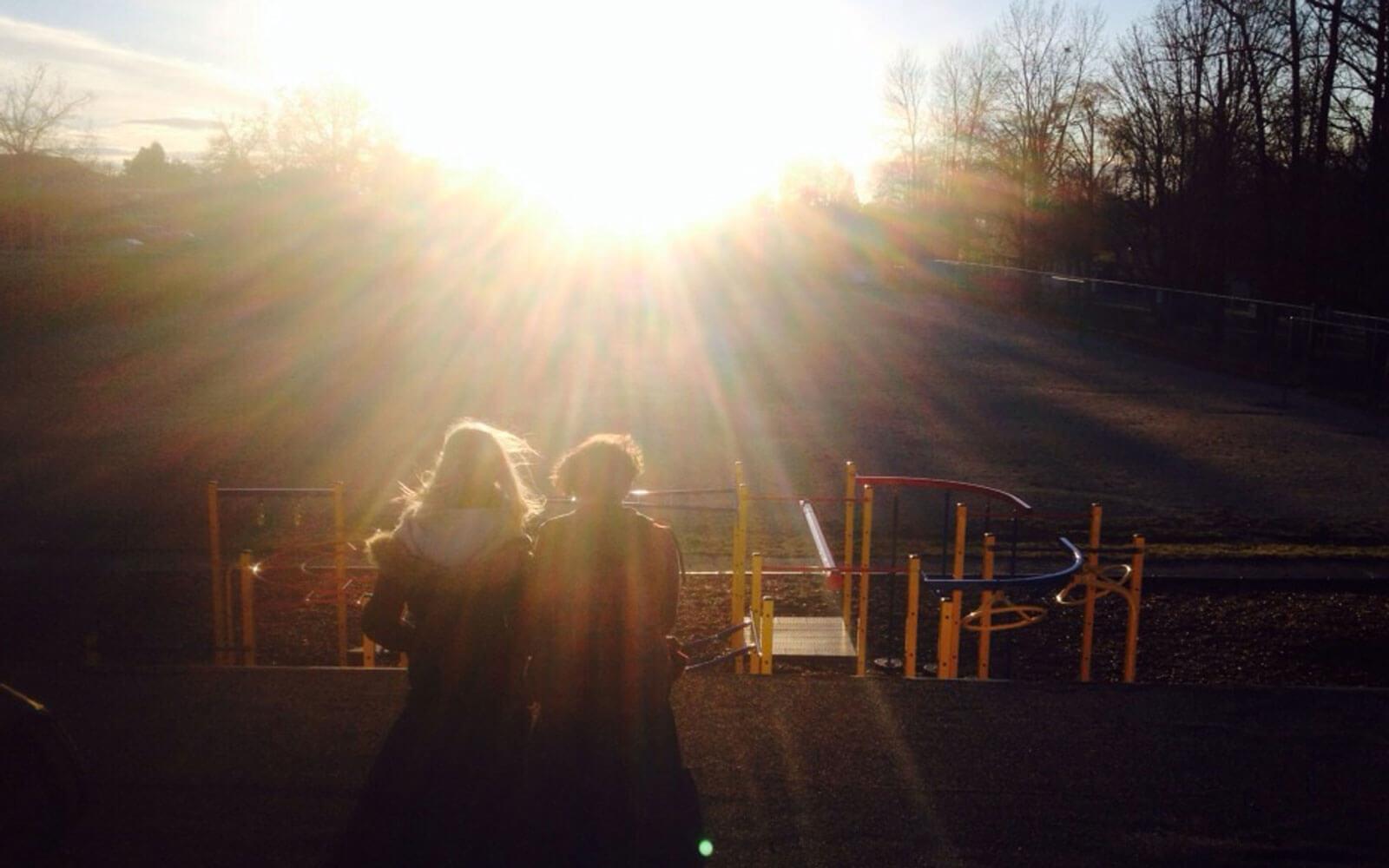 Alina mit Freundin