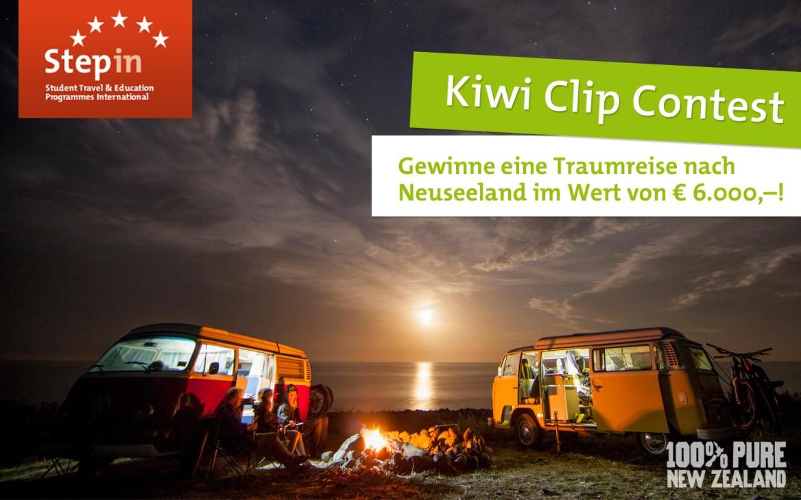 """News: """"Kiwi Clip Contest"""": Gewinne einen NZ-Trip im Wert von 6.000€!"""