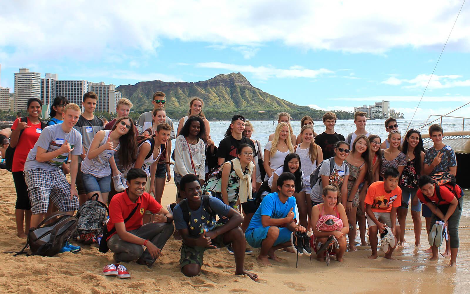 Schülergruppe Hawaii