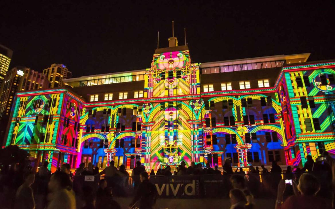 Start des Kreativ-Festivals »Vivid Sydney«