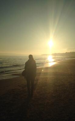 Franziska am Strand