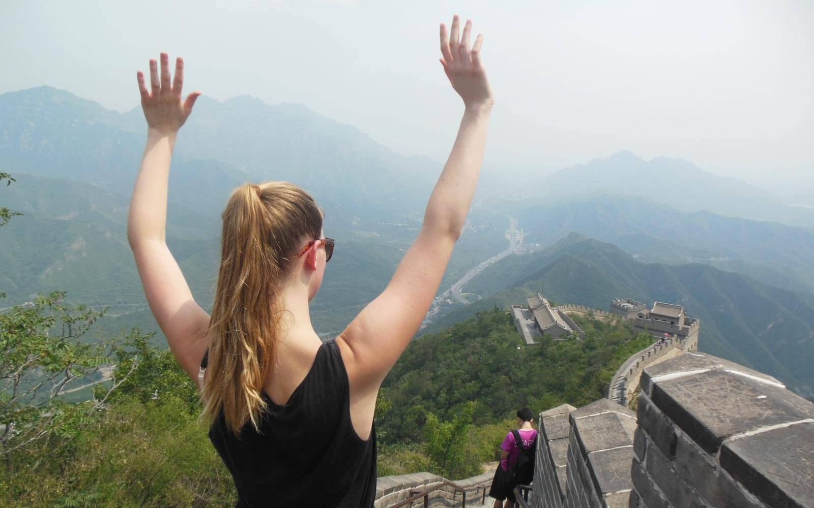 Teach and Travel China - Kira an der Chinesischen Mauer
