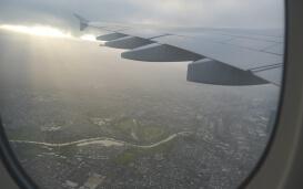 Im Flugzeug nach Neuseeland