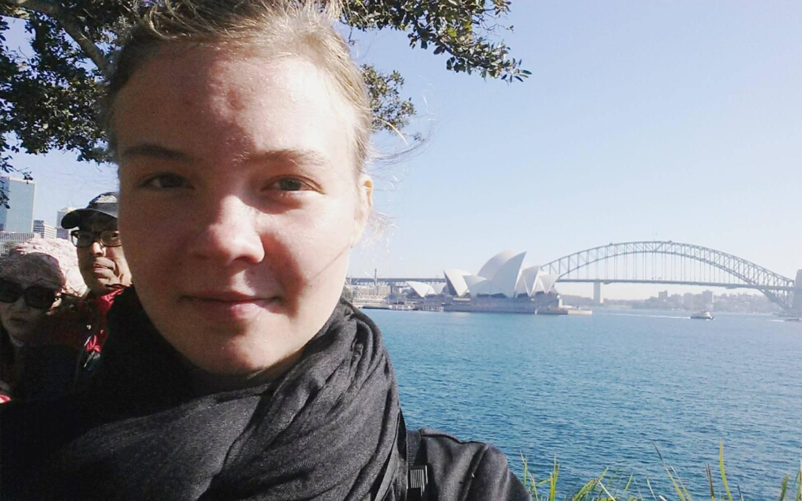 Stipendiatin Lara in Sydney