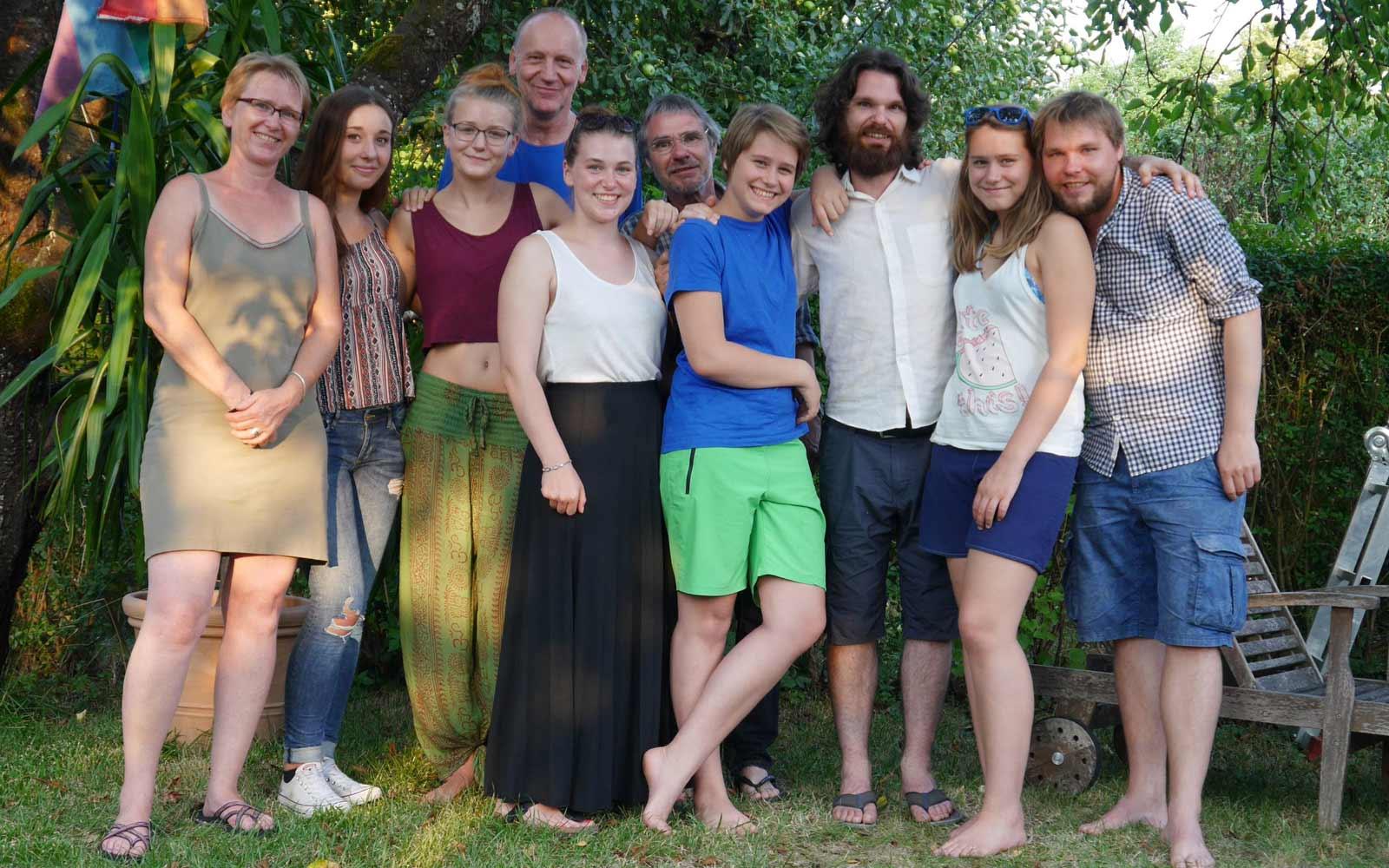 Annika mit ihrer Familie