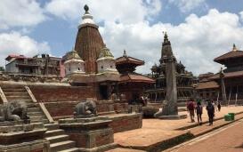 Tempelplatz in Nepal