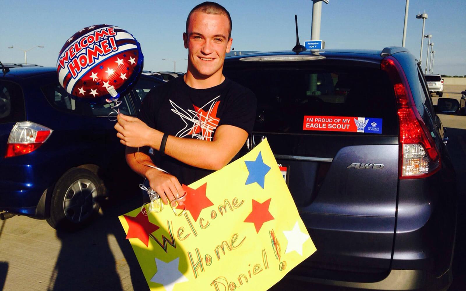 Stipendiatin Daniel kommt in den USA an