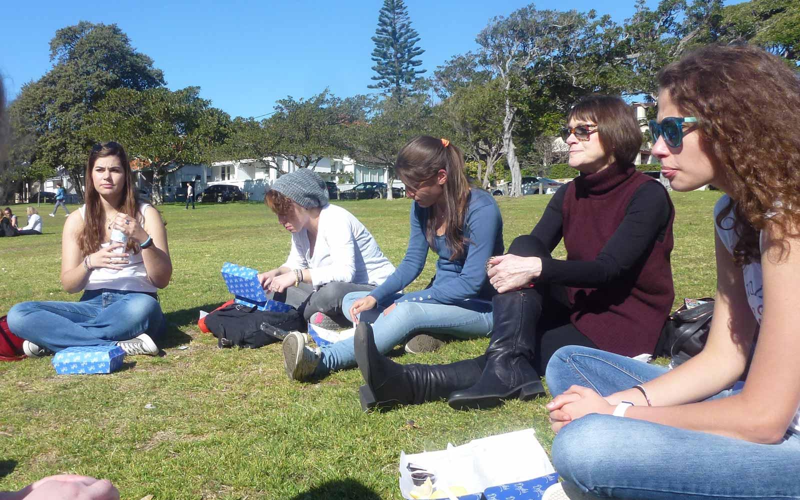 Treffen mit anderen Austauschschülern