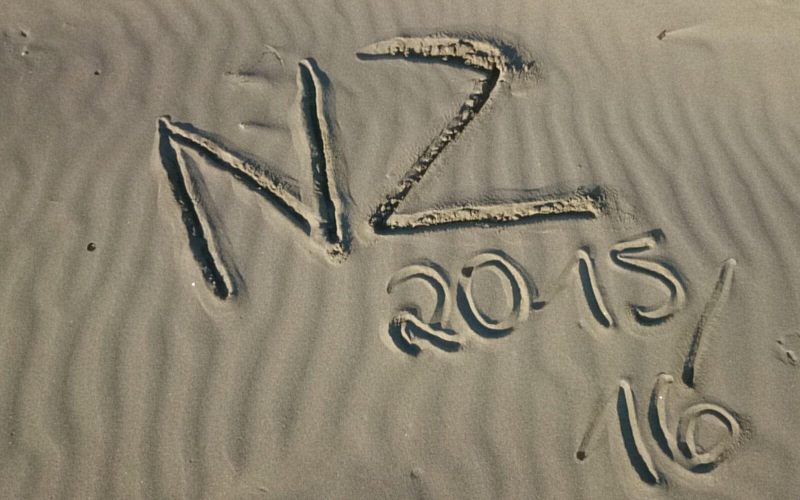 Neuseeland 15/16 am Strand