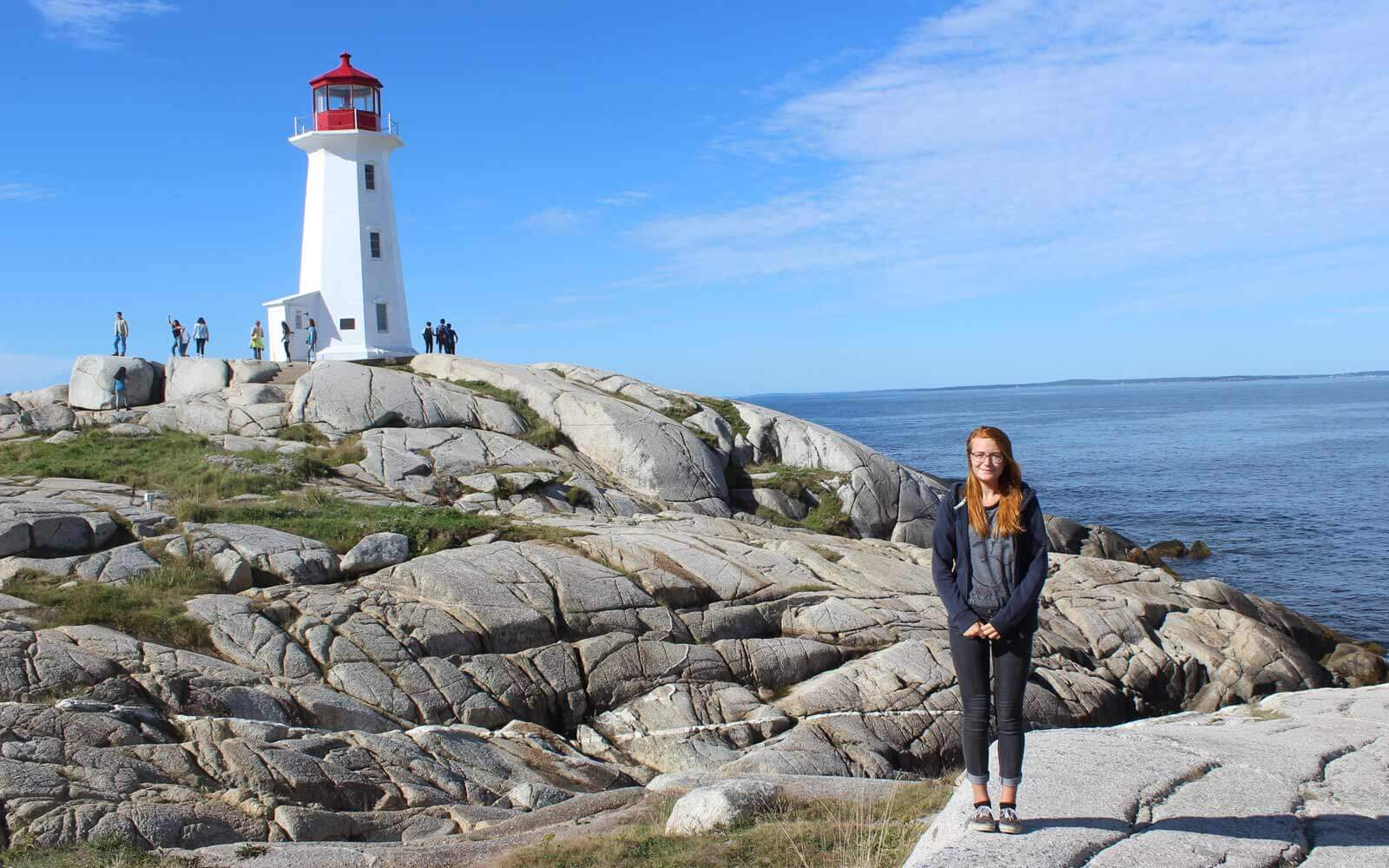Stipendiatin Annika in Nova Scotia