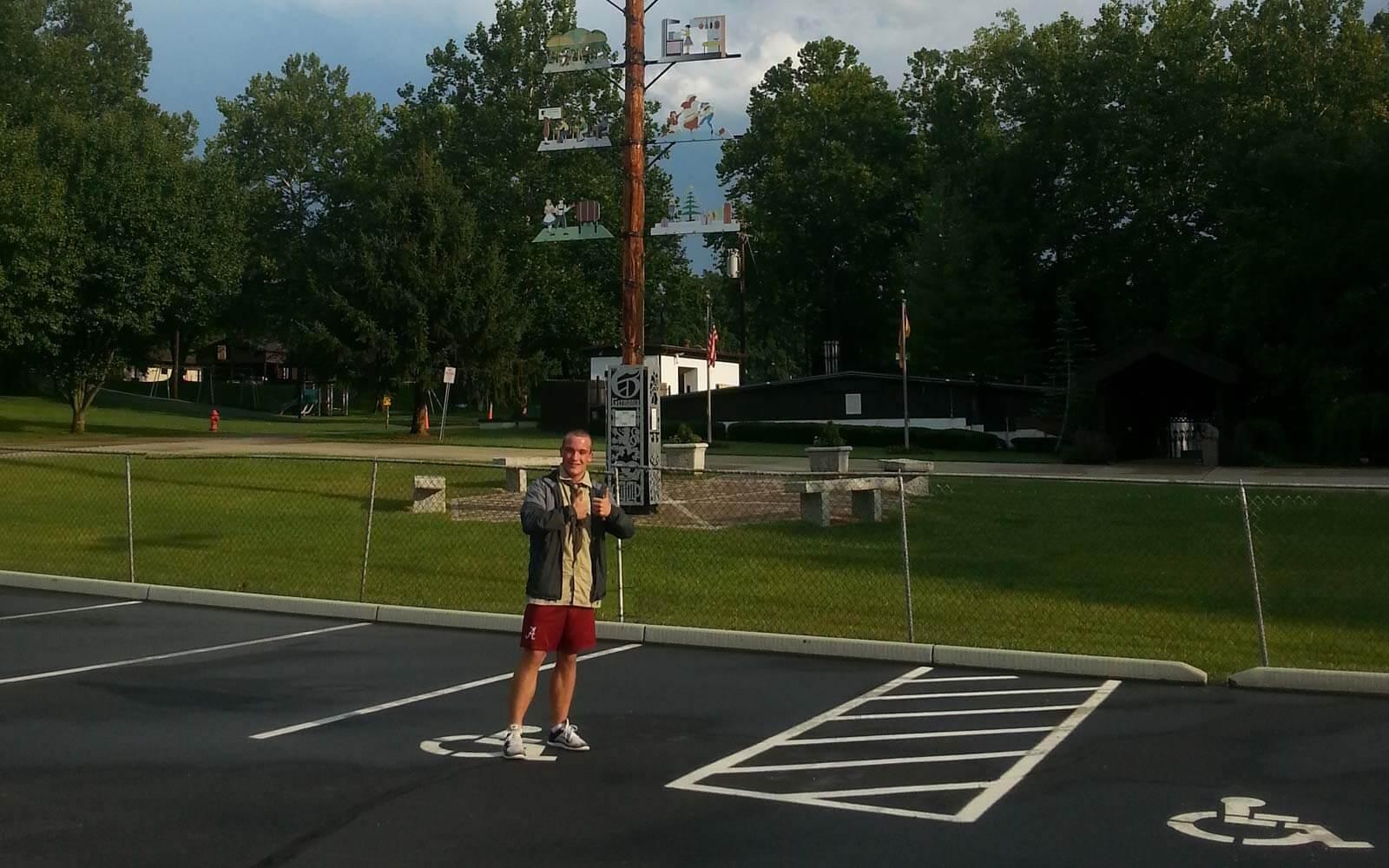 Daniel an seiner High School