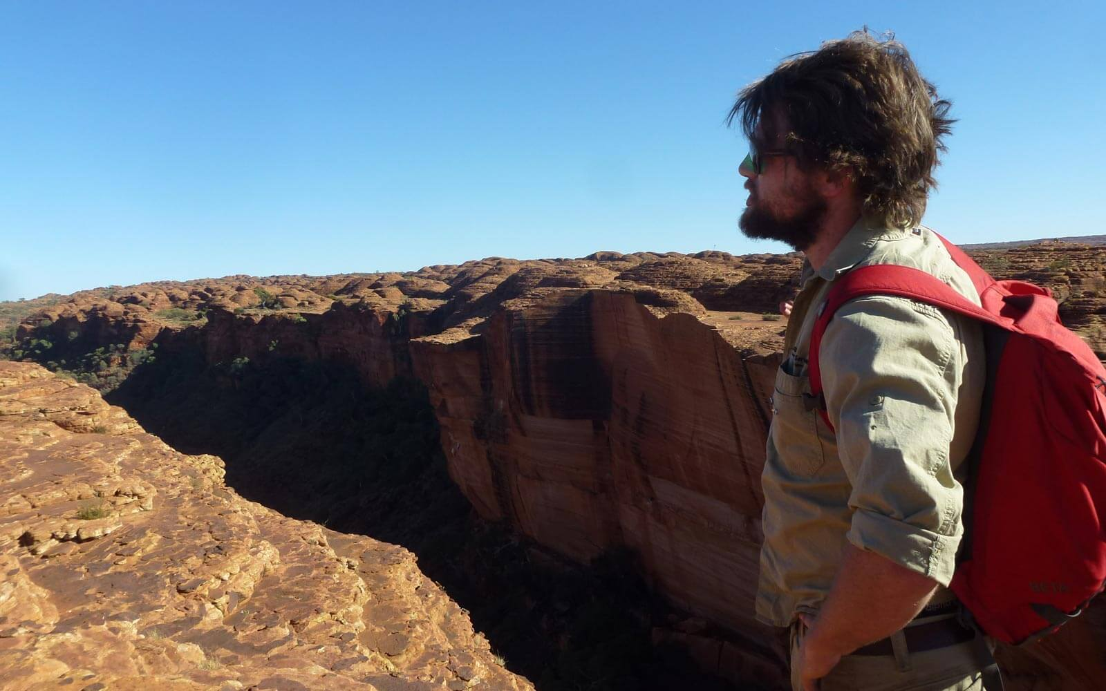 Tourguide Justin im Kings Canyon