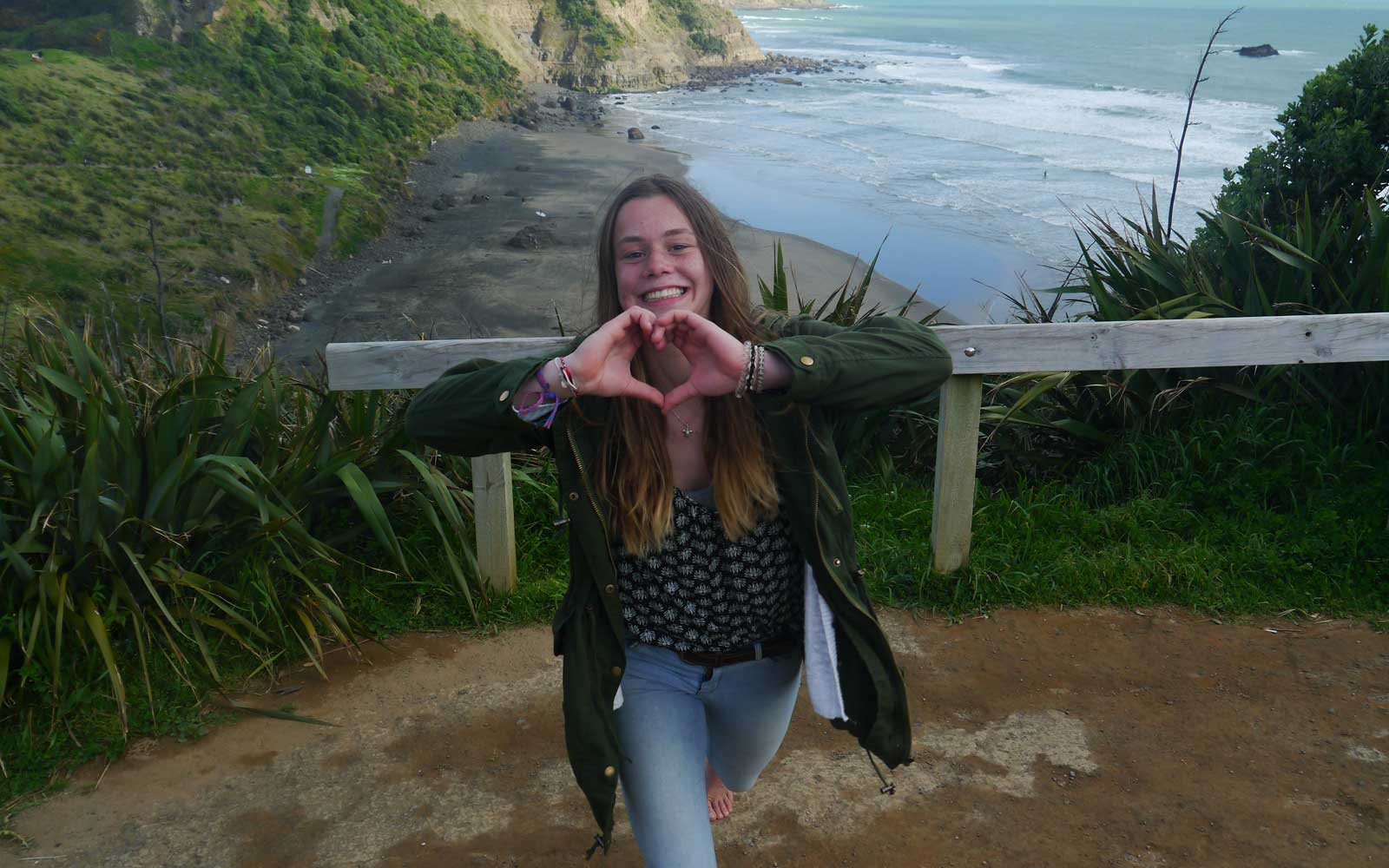 Stipendiatin Miriam in Neuseeland