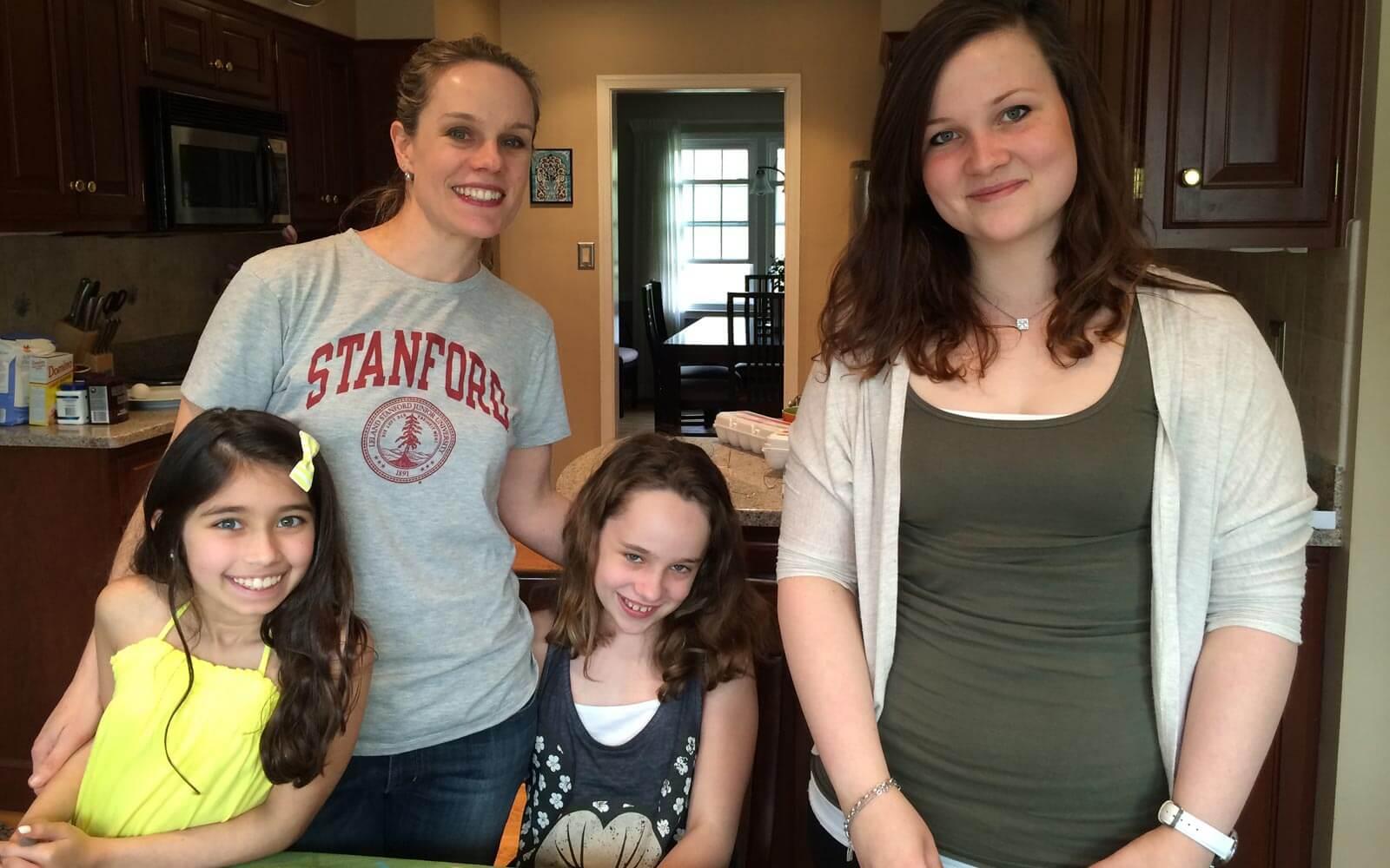 Sabrina mit ihrer Gastfamilie