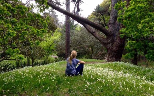 Annie in der Natur