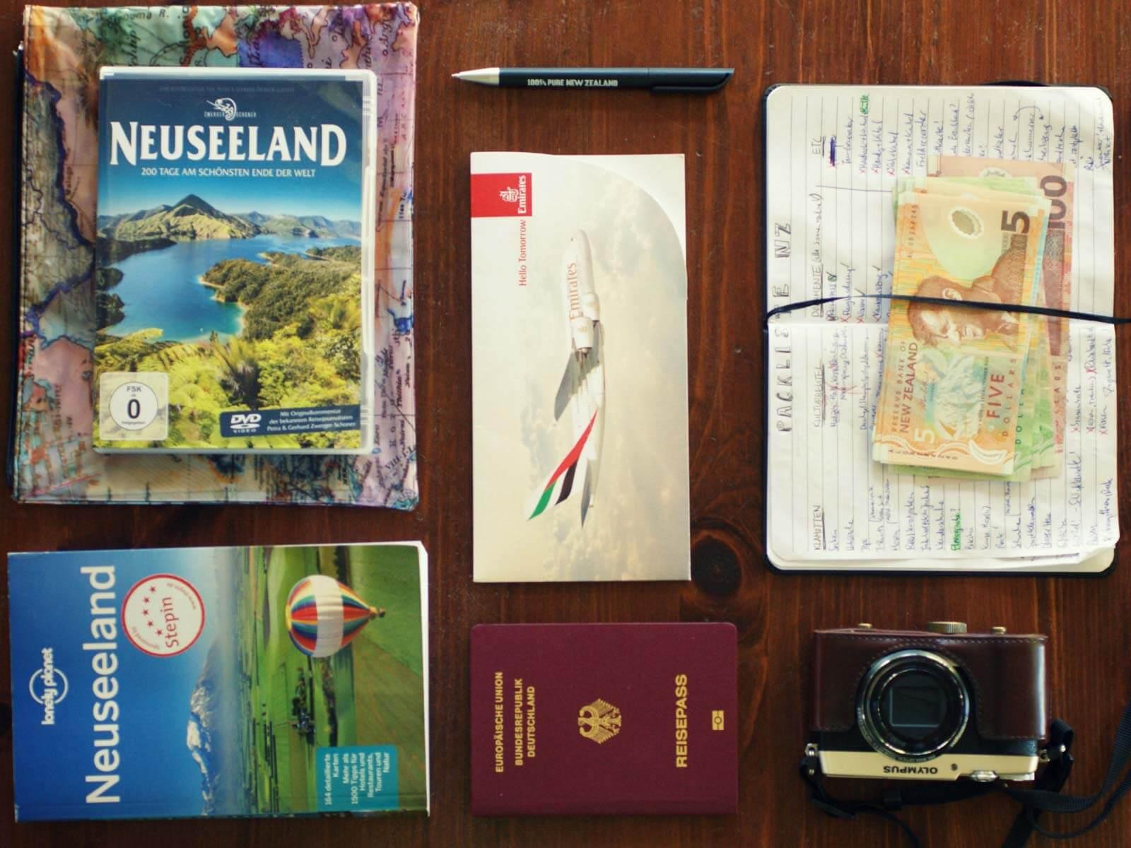 Kiwi Clip Contest-Gewinnerin Annies Reiseunterlagen