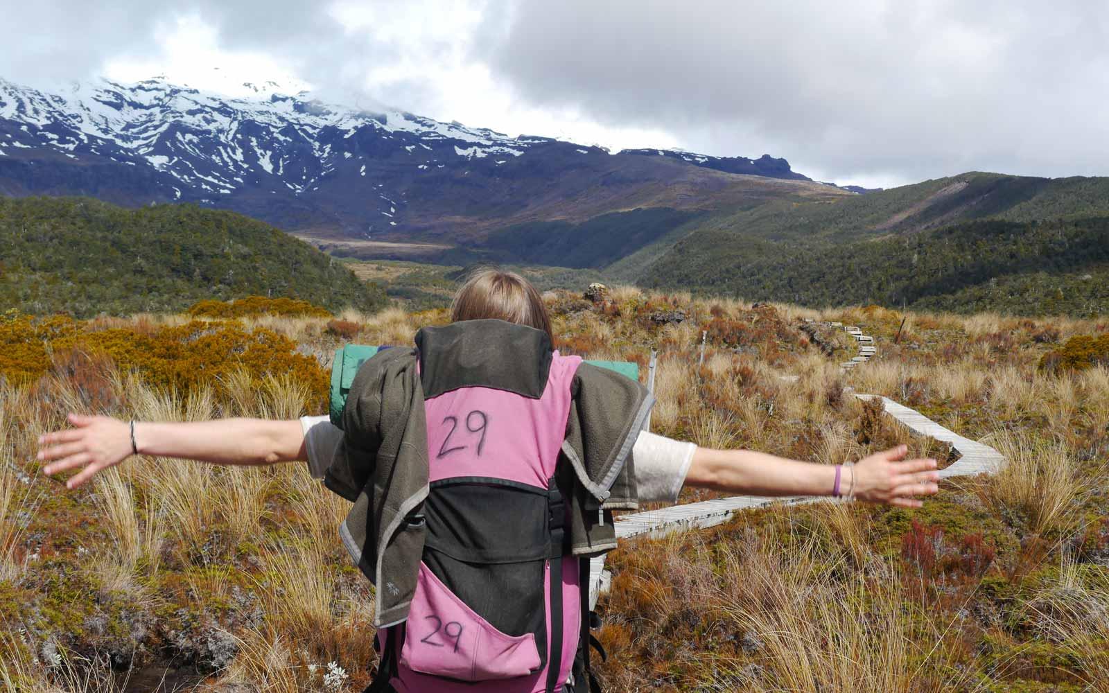 High School-Stipendiatin Miriam genießt die Natur Neuseelands