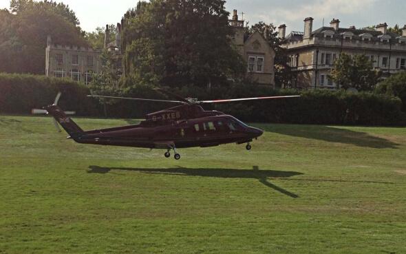 Helikoper landet vor Buckingham Palace in London