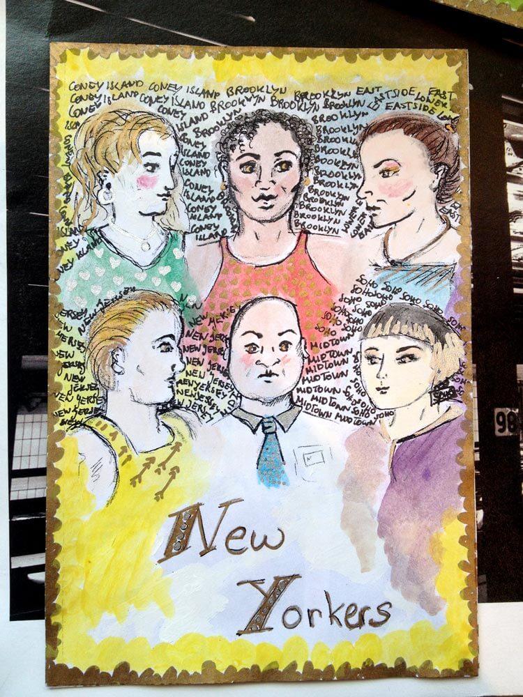 Selbstgemachte Postkarte von Malina