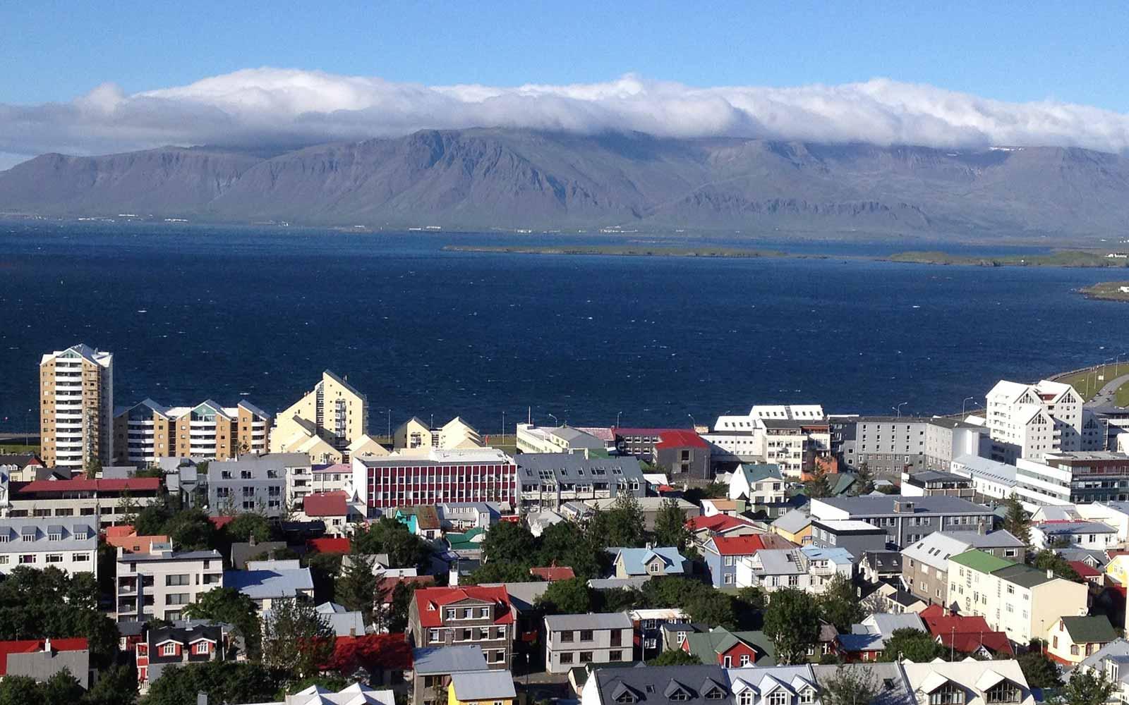 Überblick über Reykjavik,Island