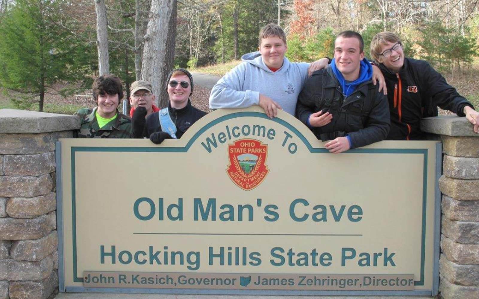 Austauschschüler Daniel und die Boy Scouts im Hocking Hills State Park