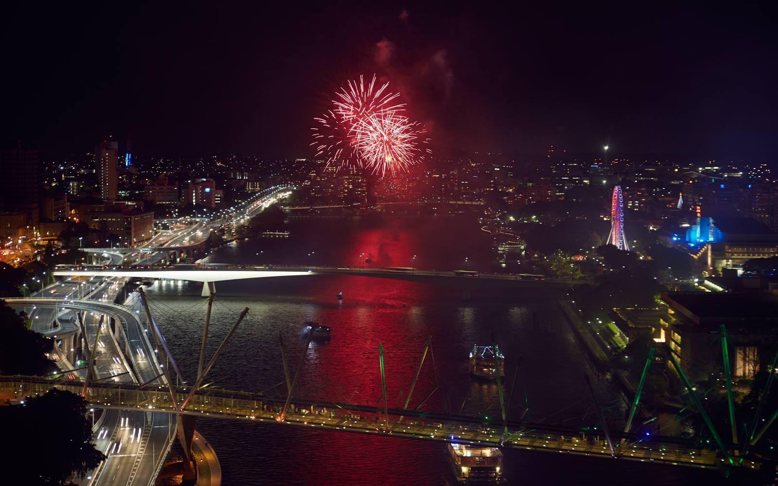 Australia Day: Feuerwerk Brisbane