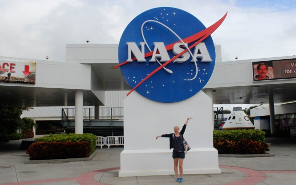 Franziska am Kennedy Space Center in Florida