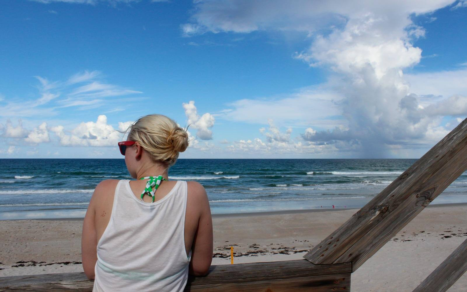 Franziska am Strand in Florida