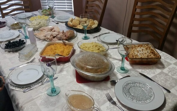 Thanksgiving-Festtafel in Ohio