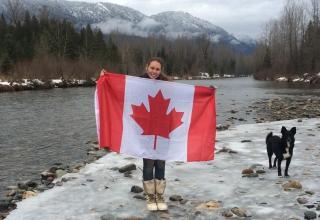 Freiwilligenarbeit Kanada: Vanessa auf der Husky-Farm