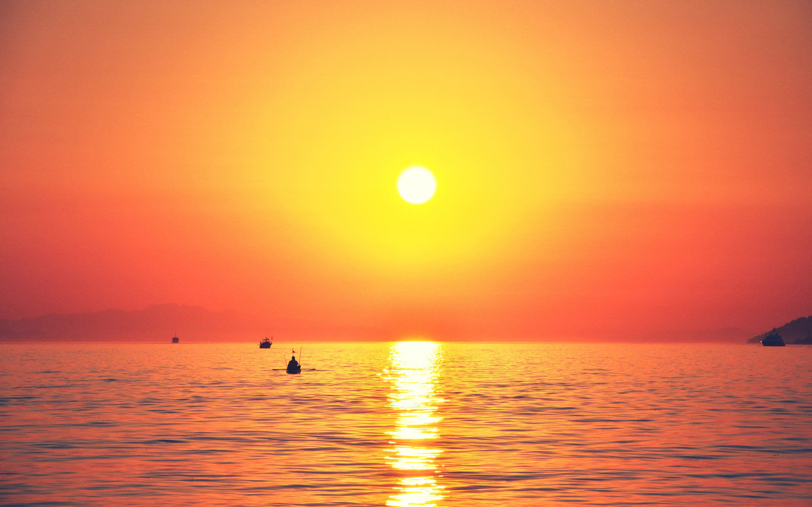 Sonnenuntergang-Ambleside-Kanada