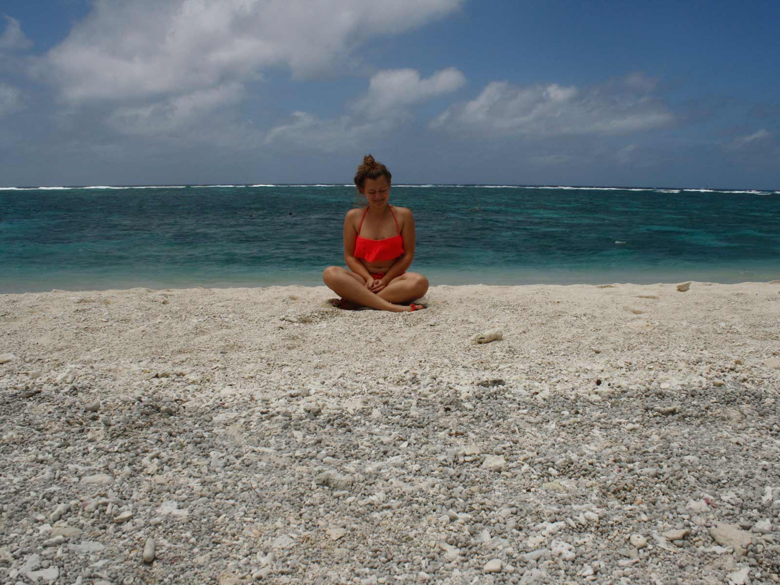 Lena am Korallenstrand auf Lady Elliot Island