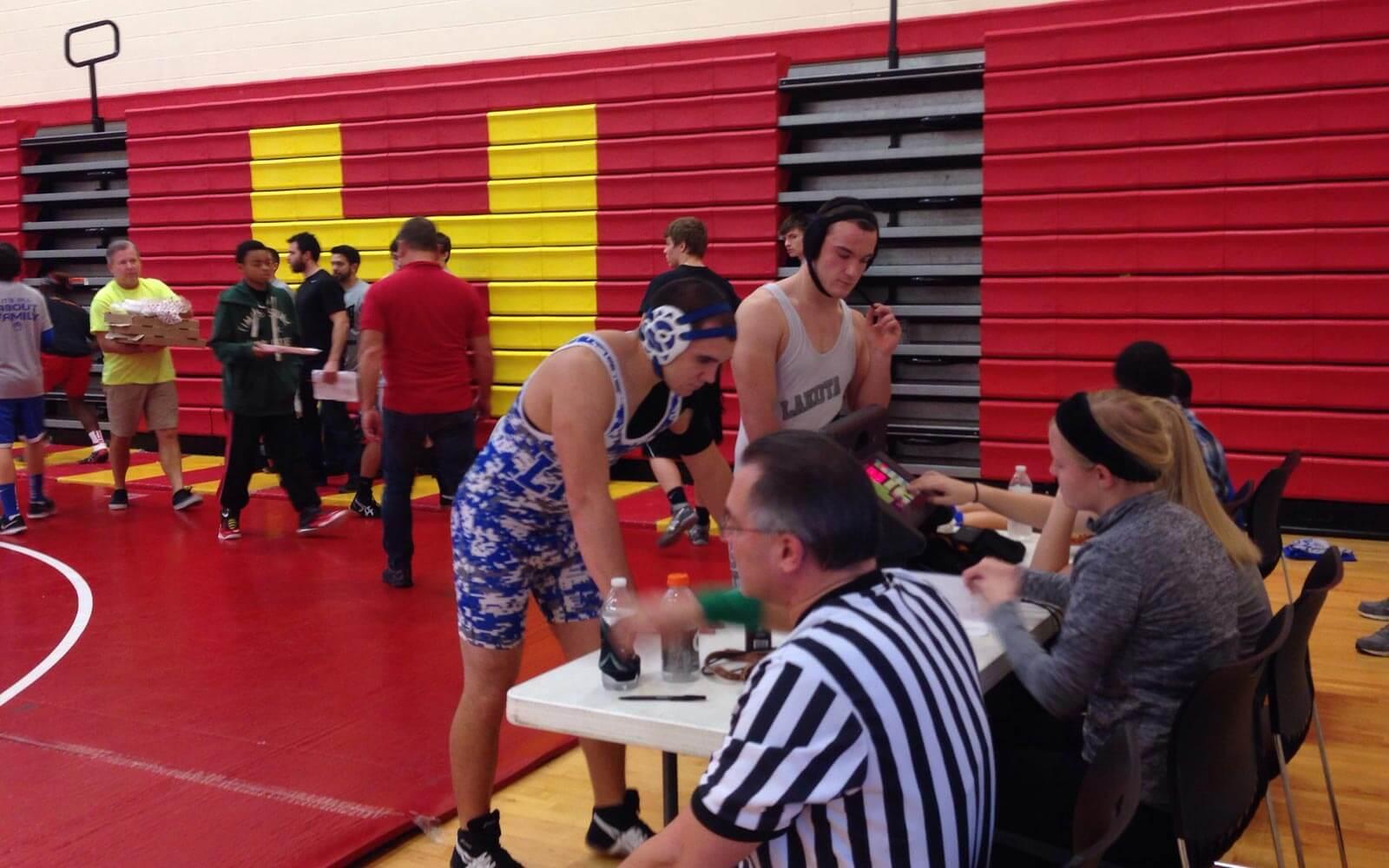 Daniel beim Wrestling