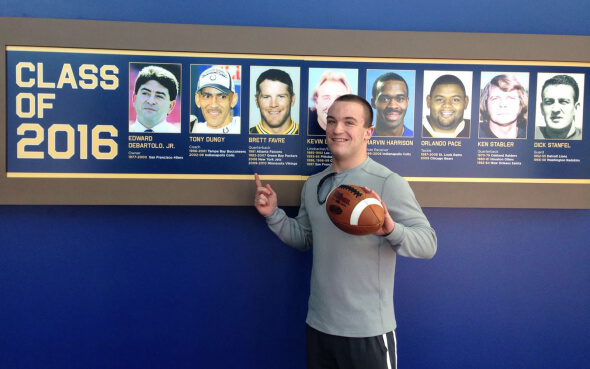 Daniel in der Pro Football Hall of Fame in Ohio, Amerika