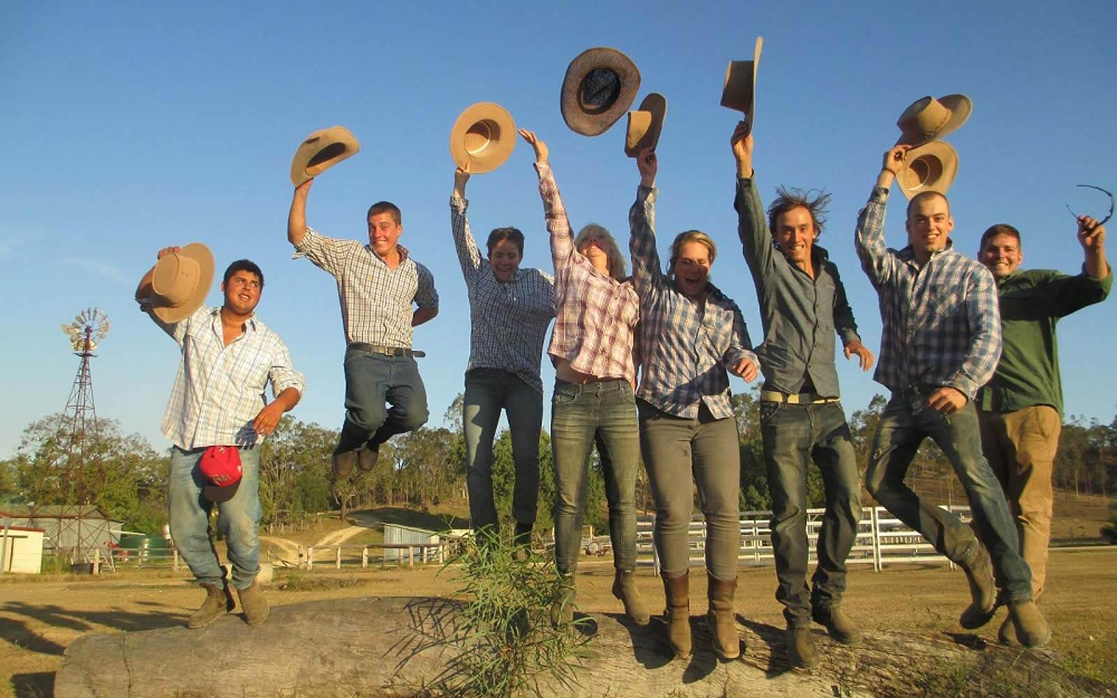 Gruppenfoto Farmarbeit Australien