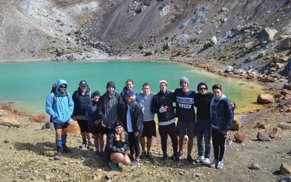 Tongariro-Crossing Wandersgruppe Neuseeland