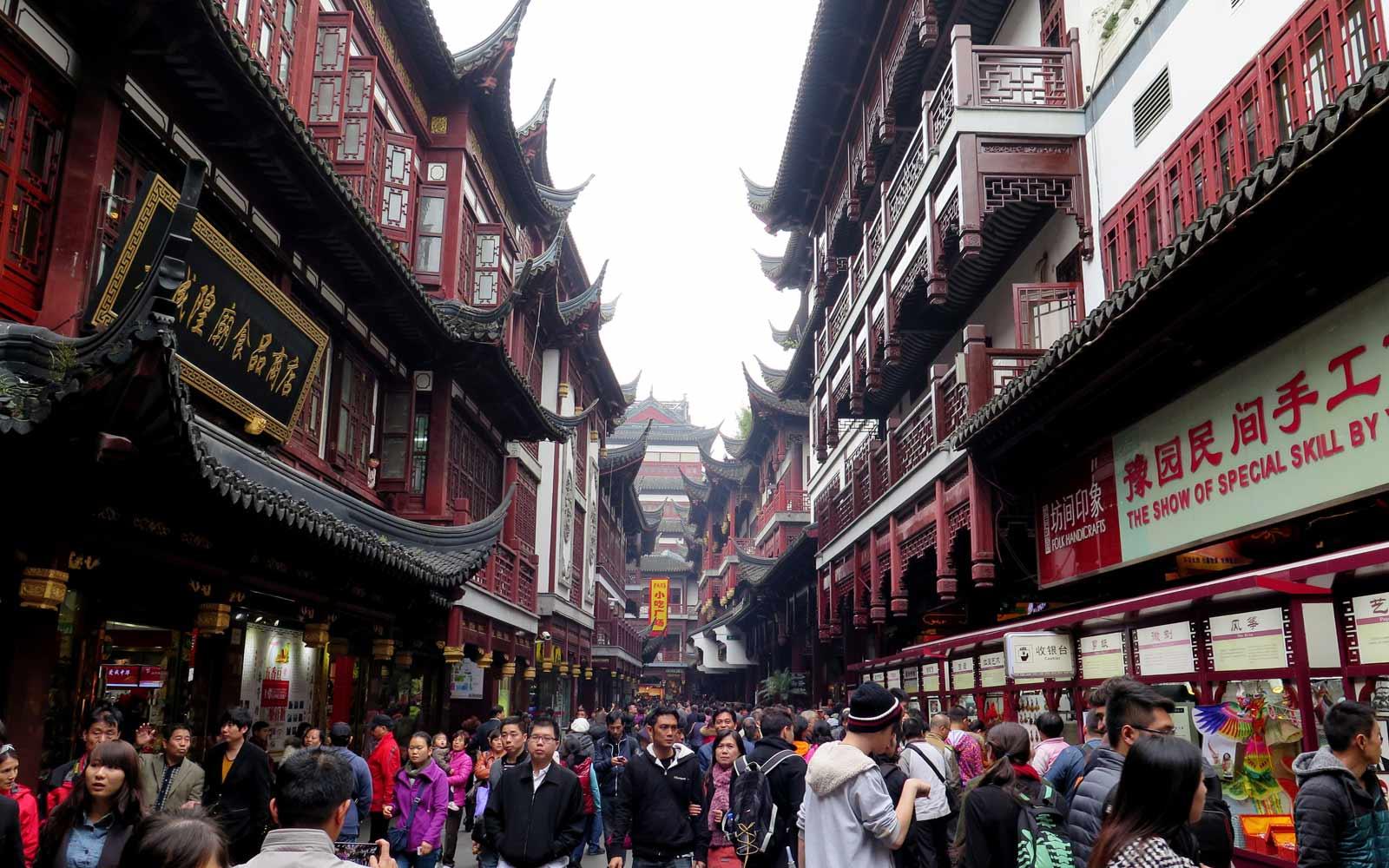 Shanghai Einkaufsstraße