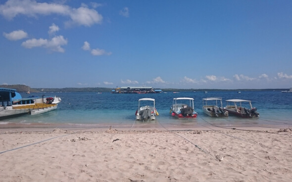 Strand auf Nusa Penida auf Bali