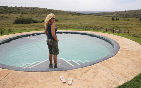Annika im Wildlife-Projekt in Südafrika