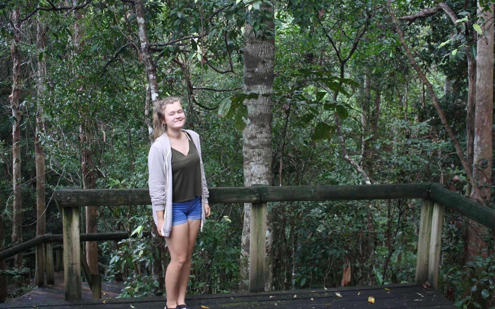 Austauschschülerin Lena im australischen Regenwald