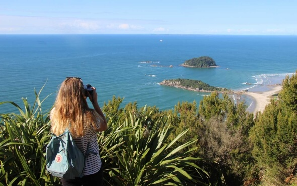 Aussicht vom Mount Maunganui in Neuseeland