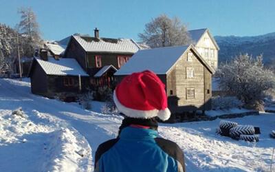 Silja reitet im Schnee