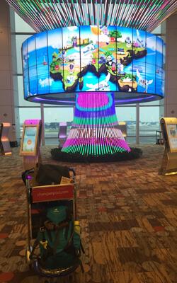 Social-Tree am Flughafen in Singapur
