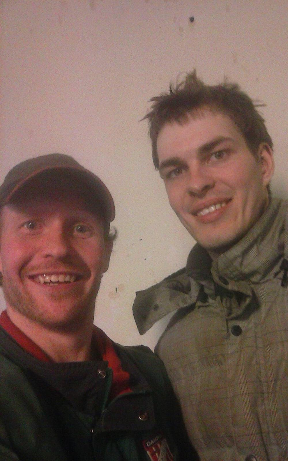 Stallkollegen Gunnar und Justin