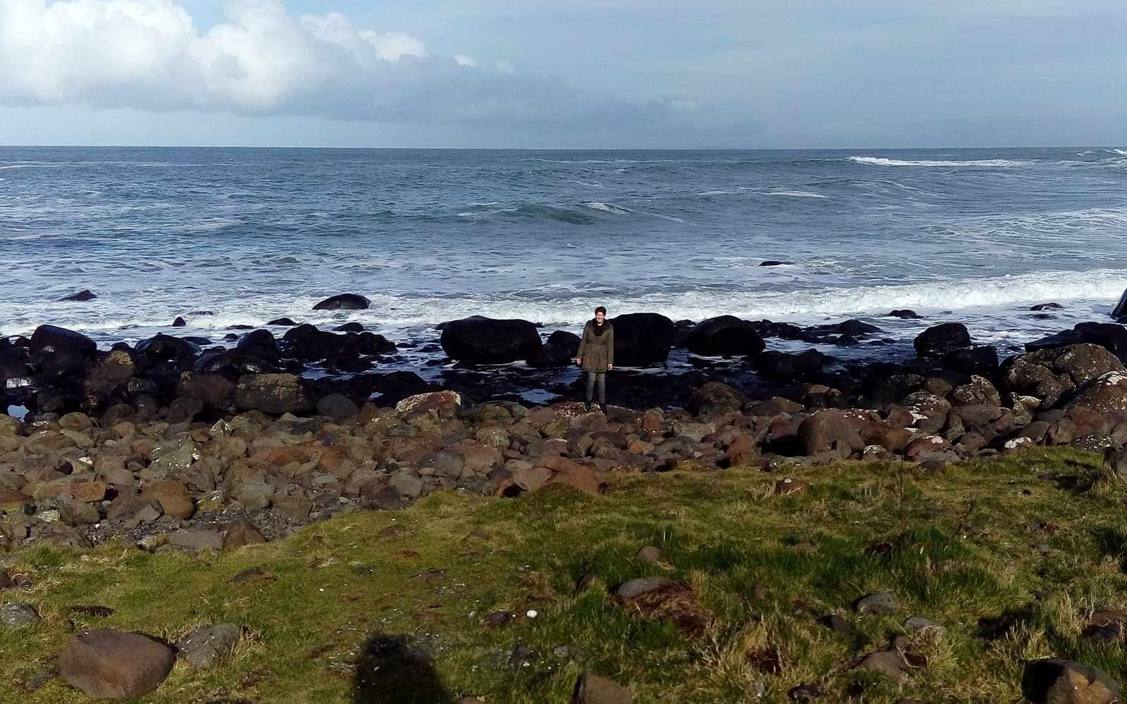 Ronja an Irlands Küste während ihres Transition Year