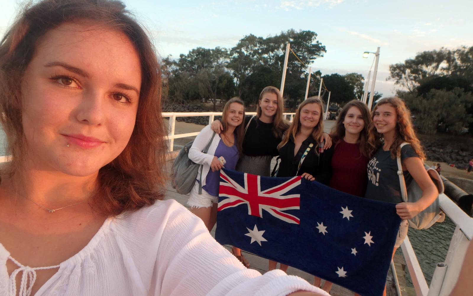 Abschied Australien Freundinnen